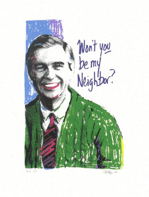 Printmakers Info Presents Print Exchange Three - Doug Haug - Wont You Be My Neighbor